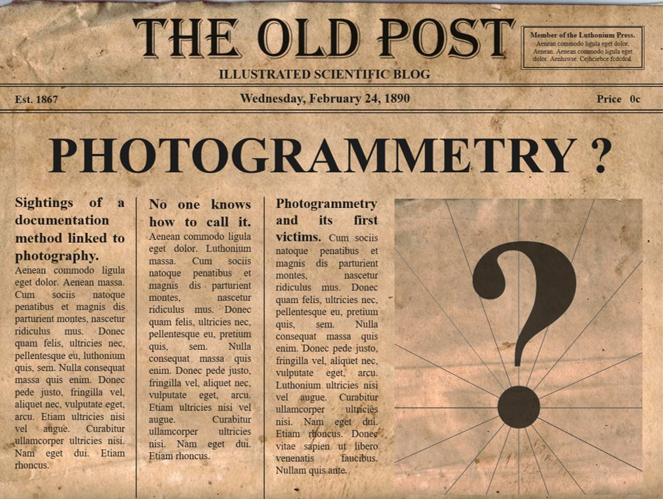 vintage photogrammetry newspaper