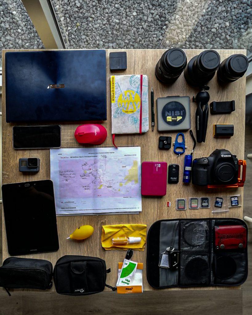 My gear in Iceland