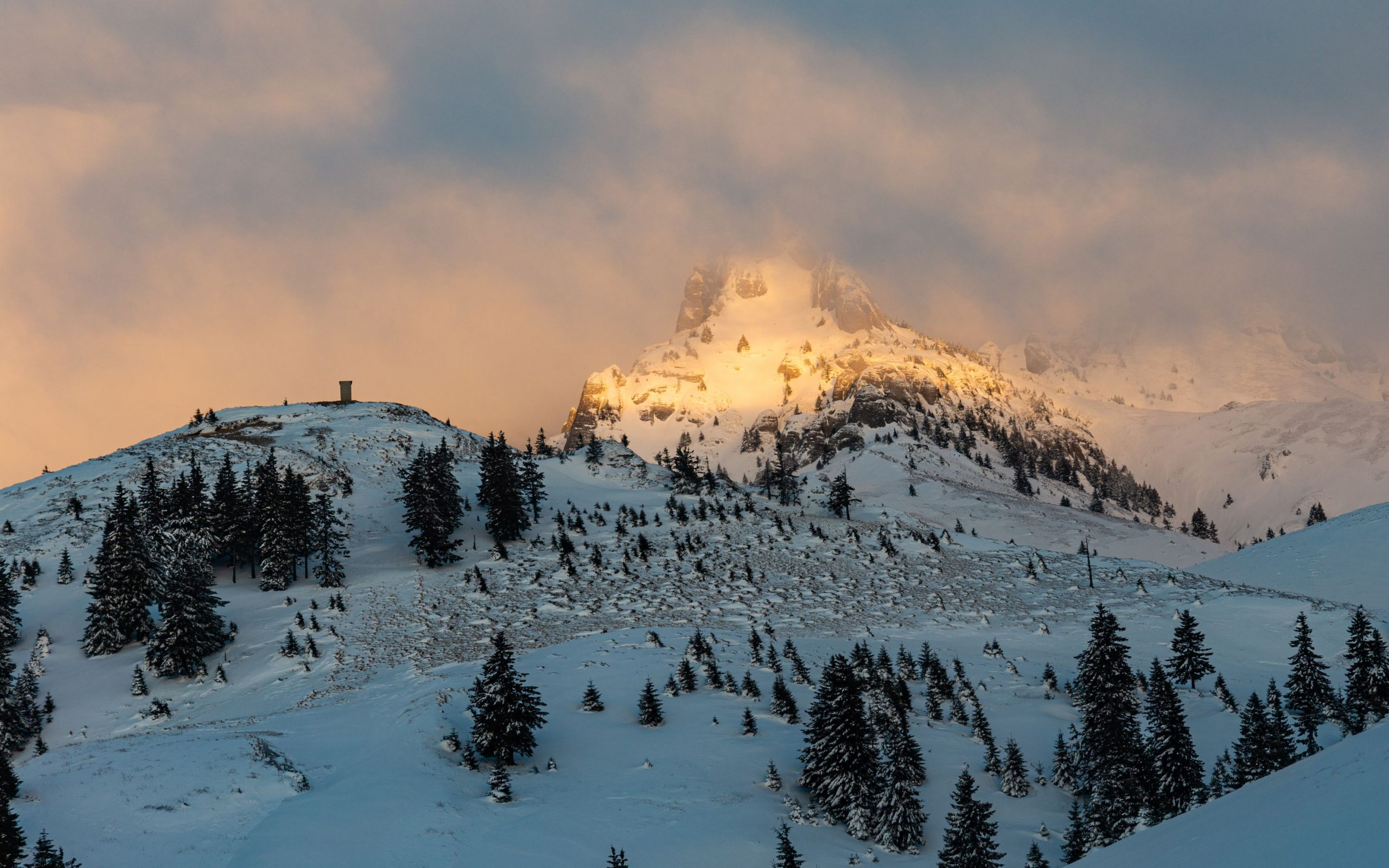 Sunrise on the mountain peak