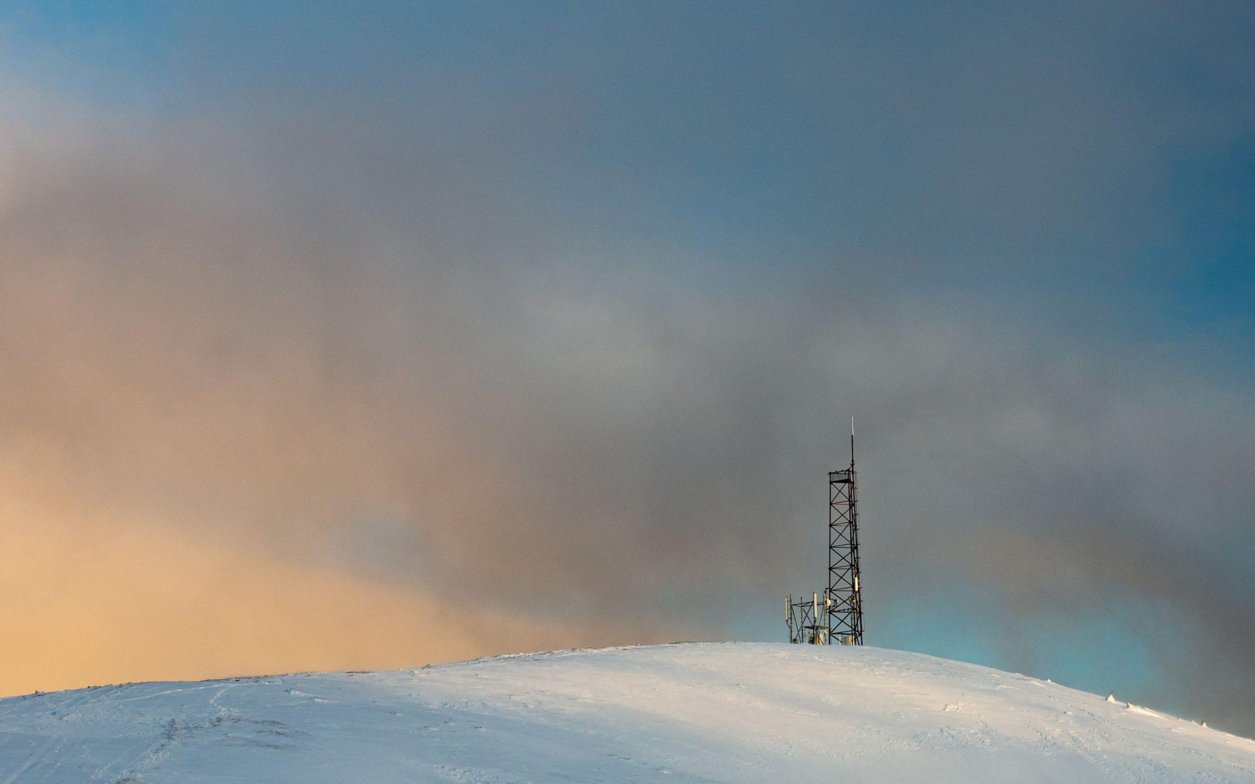 Sunrise over the antenna